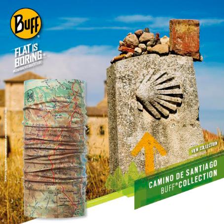 Tubolare Unisex-Adulto Original Buff Camino De Santiago Polar Geo Topics Multi Blu Taglia Unica