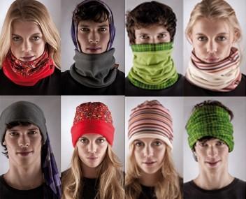 Buff Merino Wool Multifunctional Neck Warmer Headwear Scarf Red