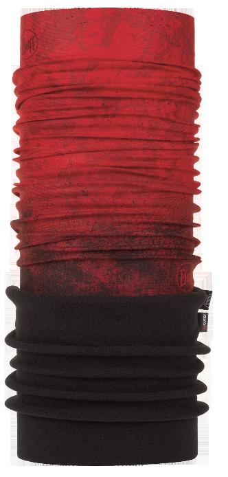 Polar Thermal Buff Multifunction Headwear Plain Black Black Fleece